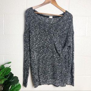 Garage Speckled Oversized Sweater w/ Pocket ✨